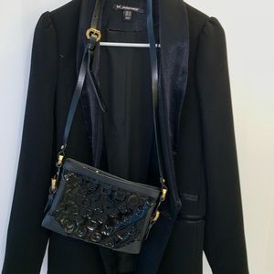 Marc Jacobs Crossbody Bag Black Patent Leather